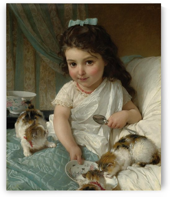 The Morning Meal by Emile Munier