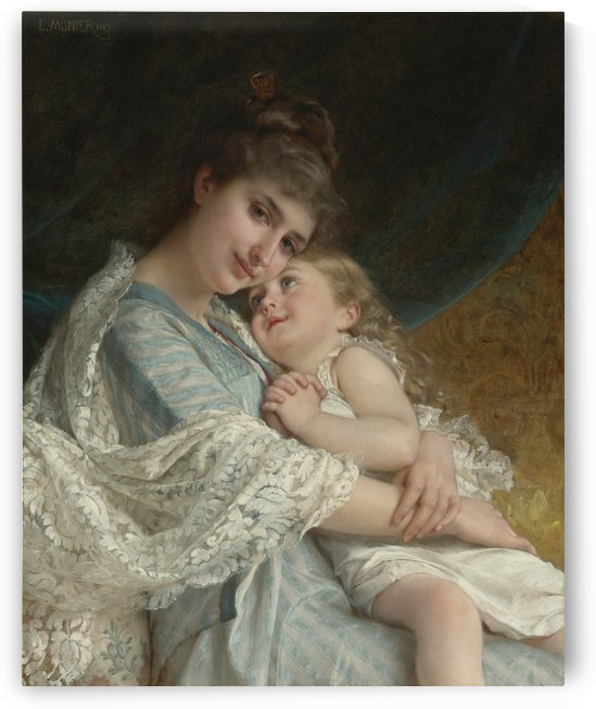 A tender embrace by Emile Munier