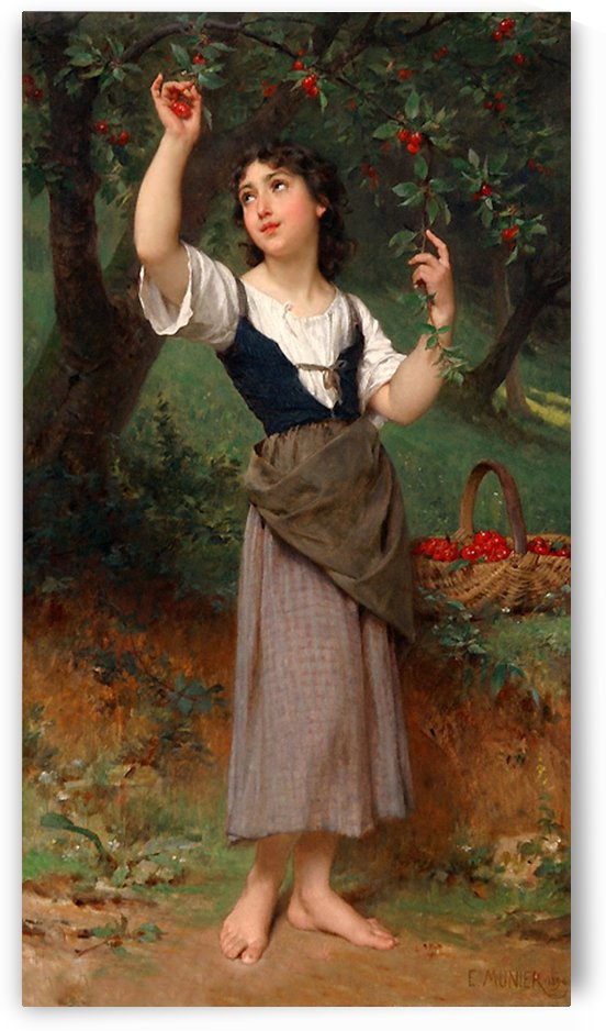 The Cherry Tree by Emile Munier