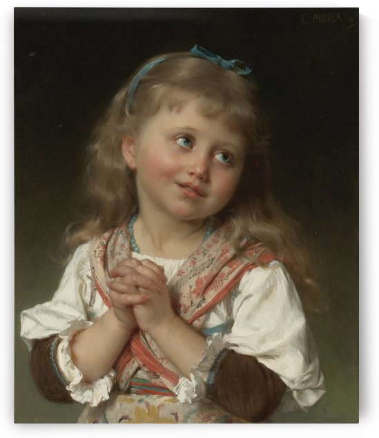 A girl praying by Emile Munier