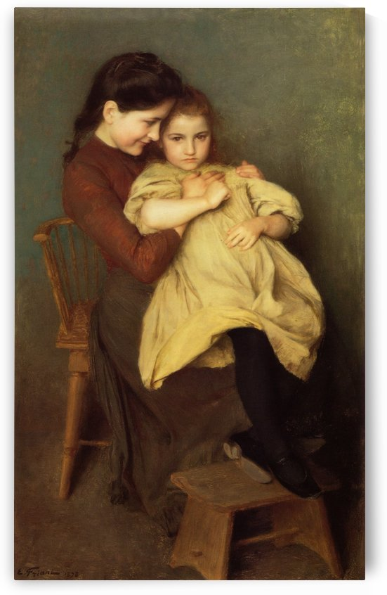 Mother and child by Emile Munier