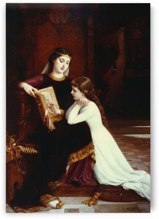 Reading lesson by Emile Munier