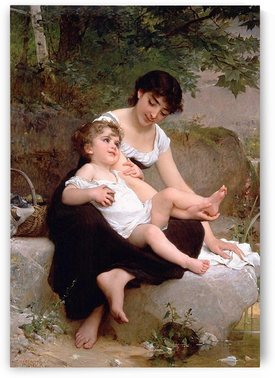 Mother and daughter by Emile Munier