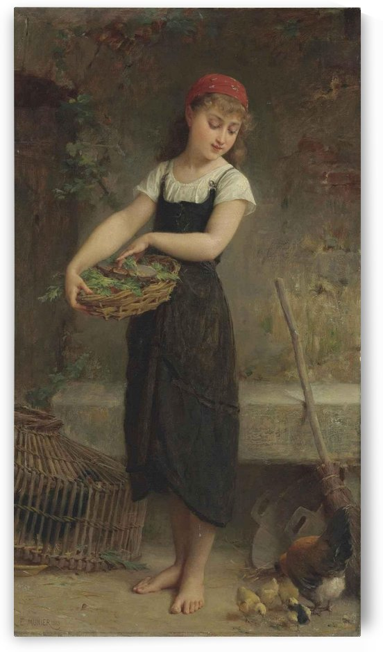 Feeding the chicks by Emile Munier