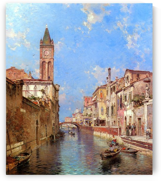 Landscape of Venice by Franz Richard Unterberger