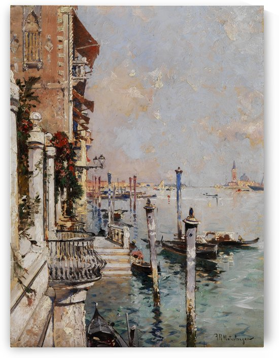 A view over the grand canale by Franz Richard Unterberger
