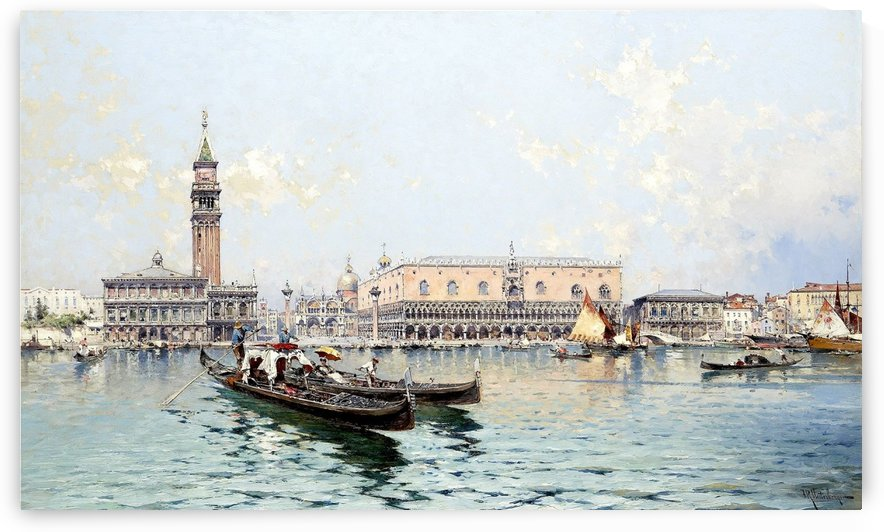 Venise le Grand Bassin by Franz Richard Unterberger