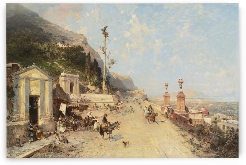 Landscape of a street by Franz Richard Unterberger