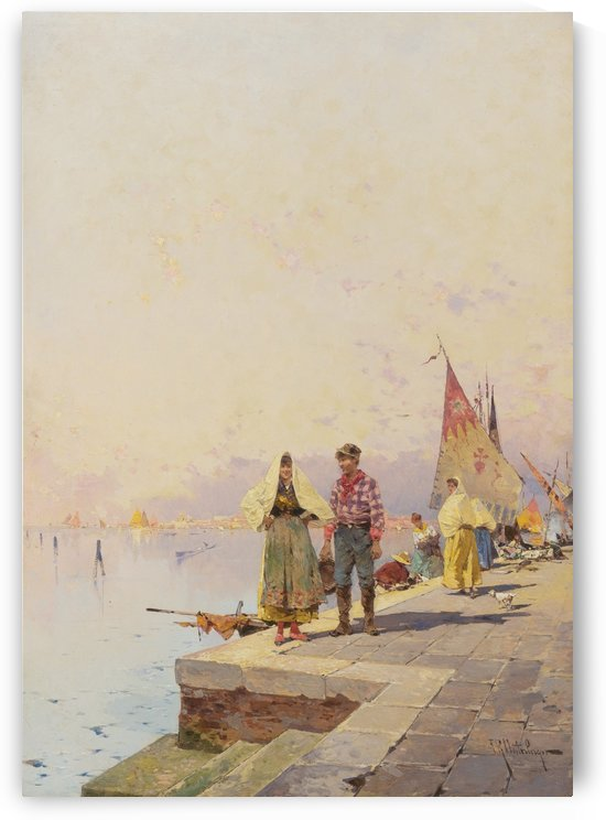 Sonniger Tag in Venedig by Franz Richard Unterberger