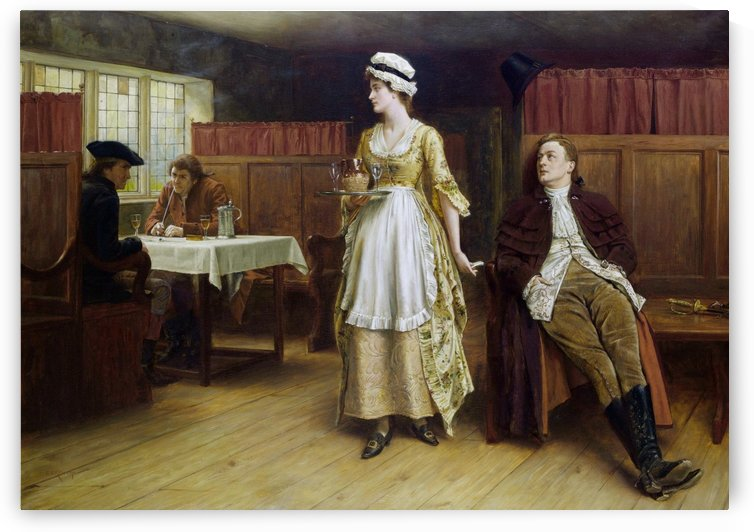 Forewarned is forearmed by George Goodwin Kilburne