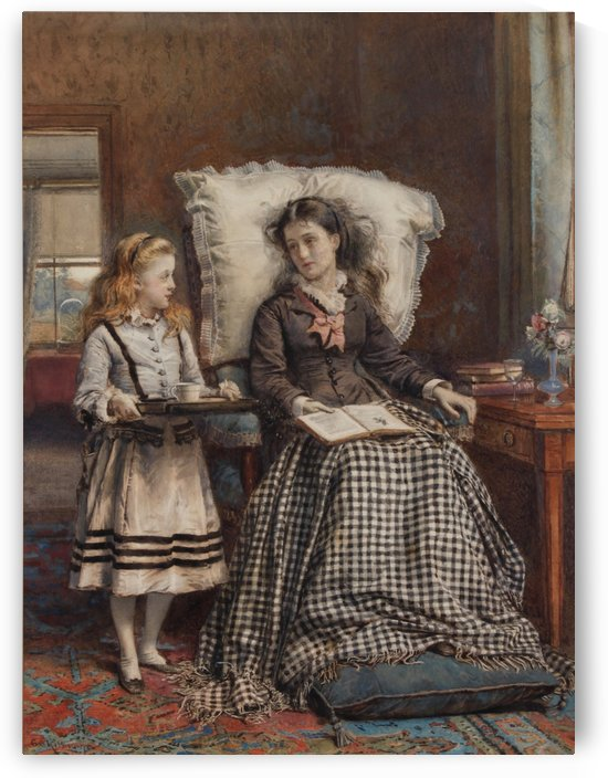 The Nursemaid by George Goodwin Kilburne