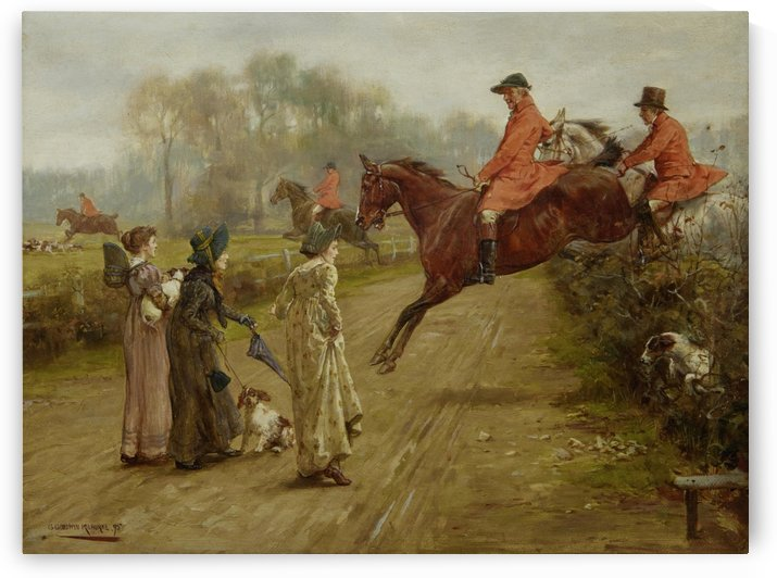 Watching the hunt 1895 by George Goodwin Kilburne