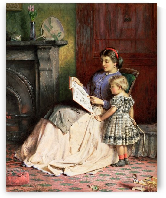Mother reading to her child by George Goodwin Kilburne