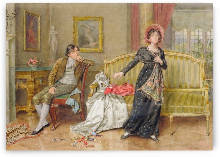 A young couple by George Goodwin Kilburne