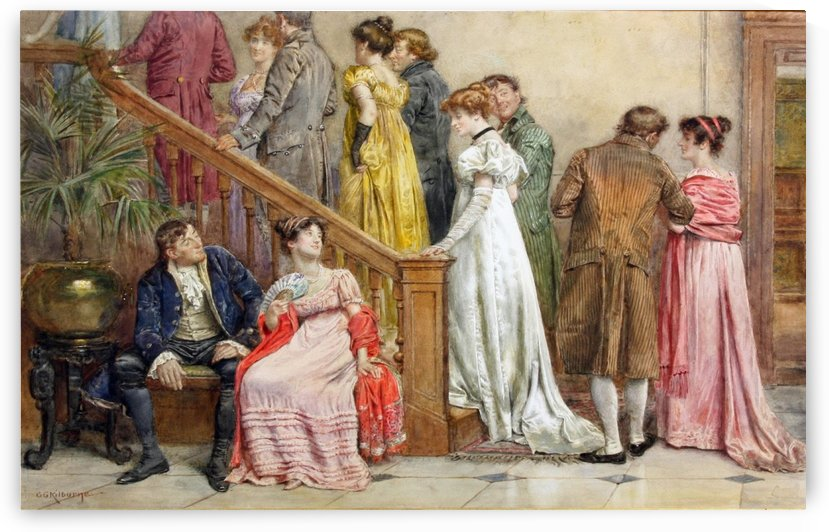 The next dance by George Goodwin Kilburne