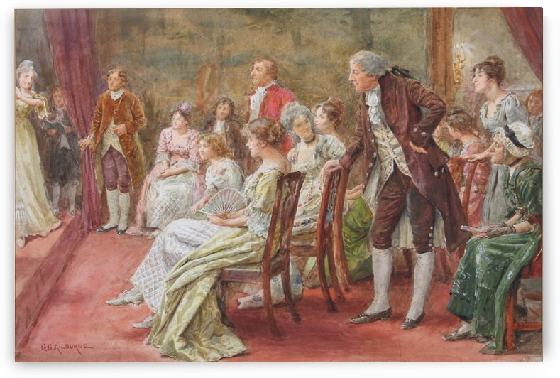 A soiree by George Goodwin Kilburne