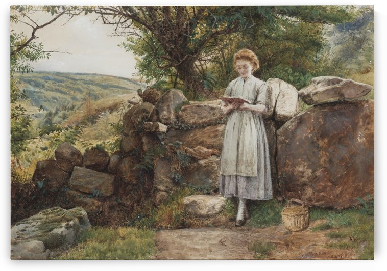 A peaceful read 1869 by George Goodwin Kilburne