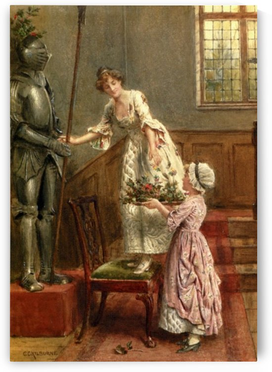 Honouring a knight by George Goodwin Kilburne