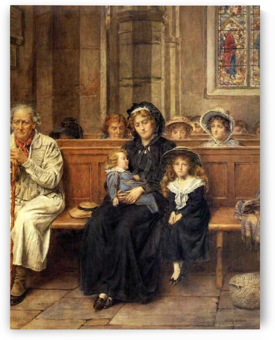 In Church by George Goodwin Kilburne