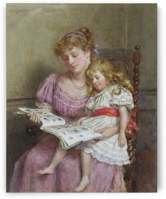 The scrapbook by George Goodwin Kilburne