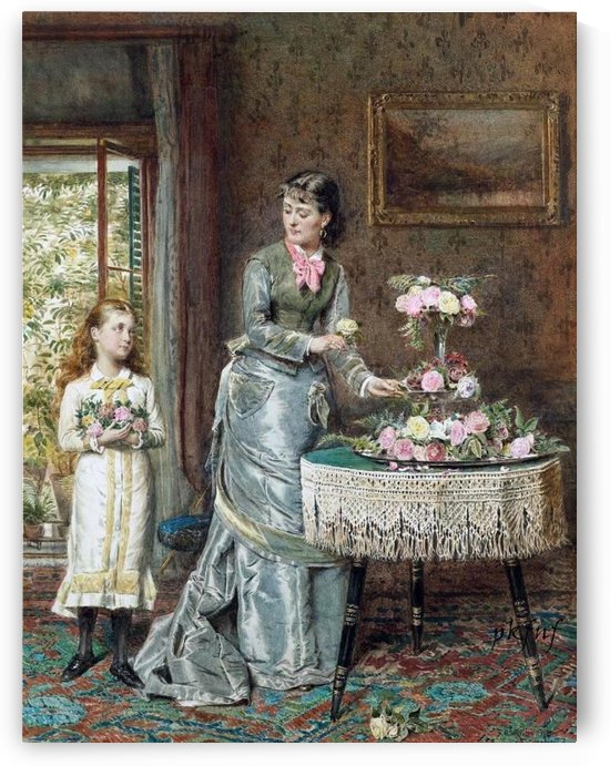 Arranging the Flowers by George Goodwin Kilburne