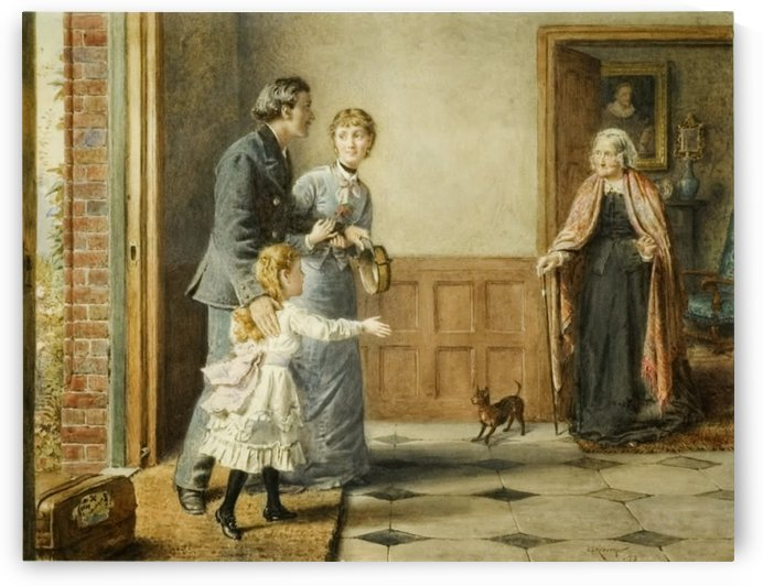 Visit to Grandmother by George Goodwin Kilburne
