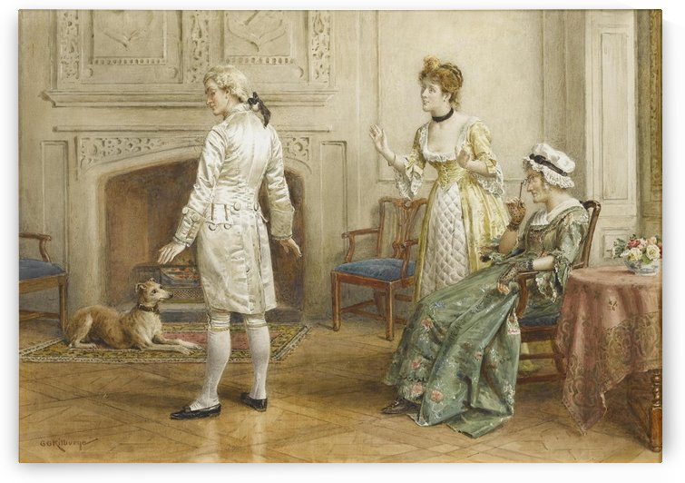 The new coat by George Goodwin Kilburne