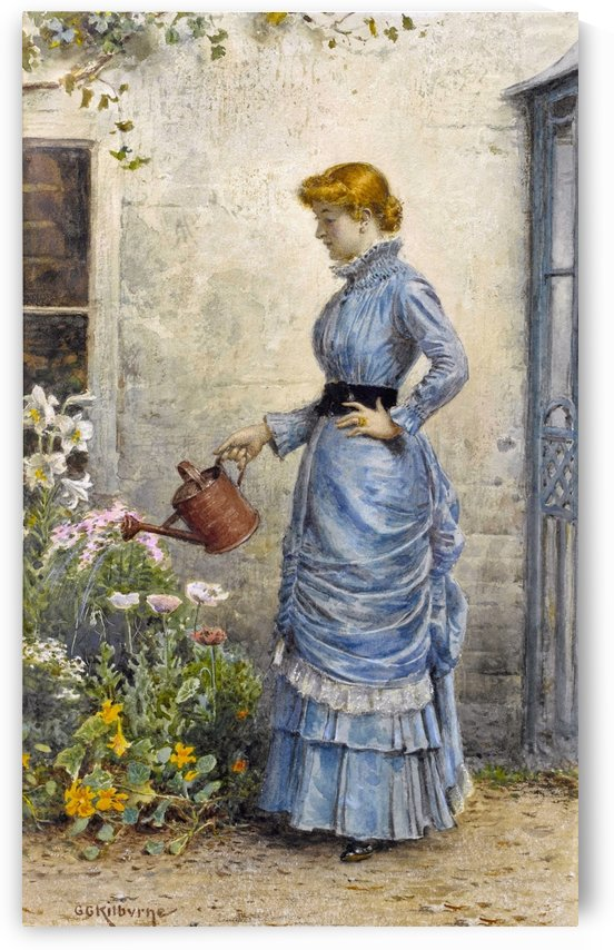Watering the Flowers by George Goodwin Kilburne