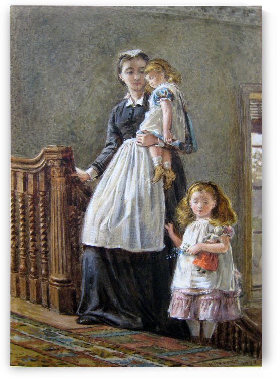 Governess with Two Girls 1873 by George Goodwin Kilburne