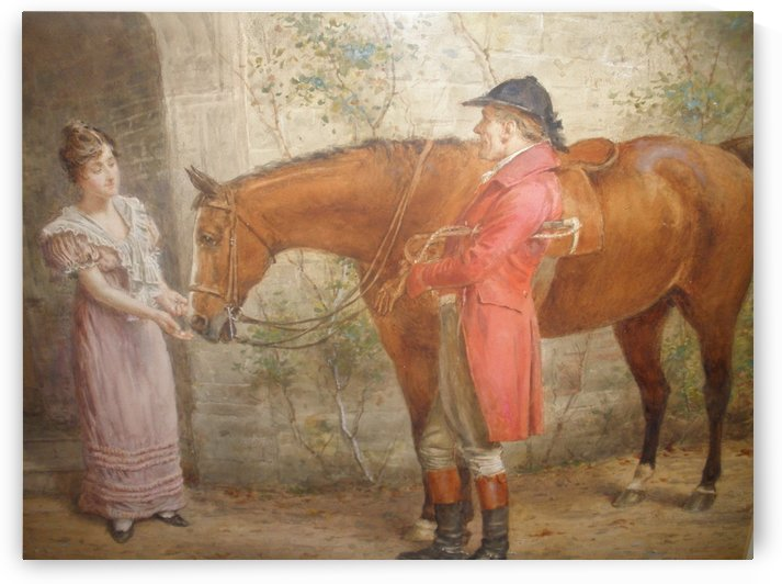 Petting the horse by George Goodwin Kilburne
