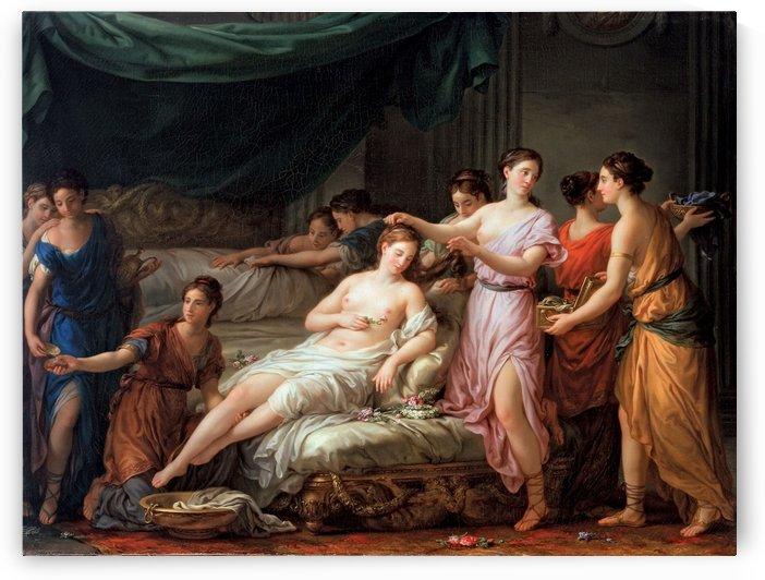 La Toilette d'une jeune mariee dans le costume antique by Joseph-Marie Vien