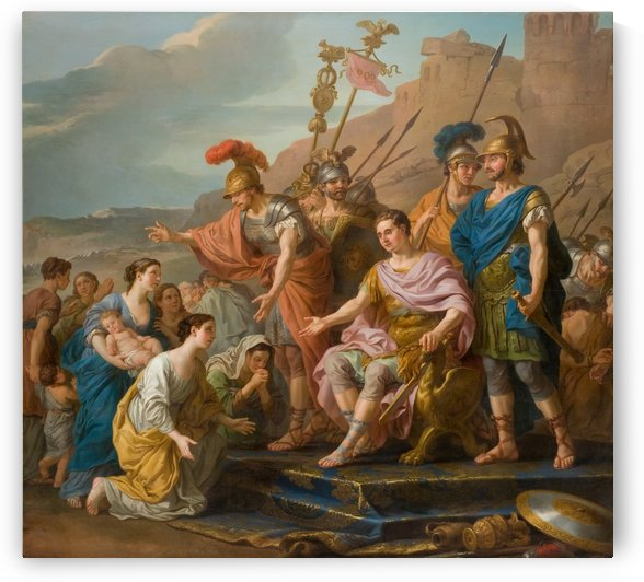Coriolans Family Imploring him not to Besiege Rome by Joseph-Marie Vien