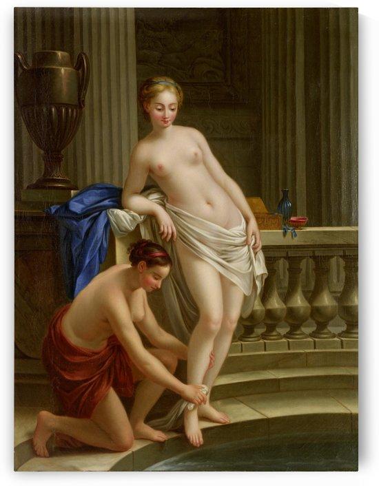 Two girls bathing by Joseph-Marie Vien