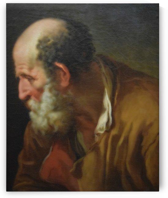 Portrait de vieillard by Joseph-Marie Vien