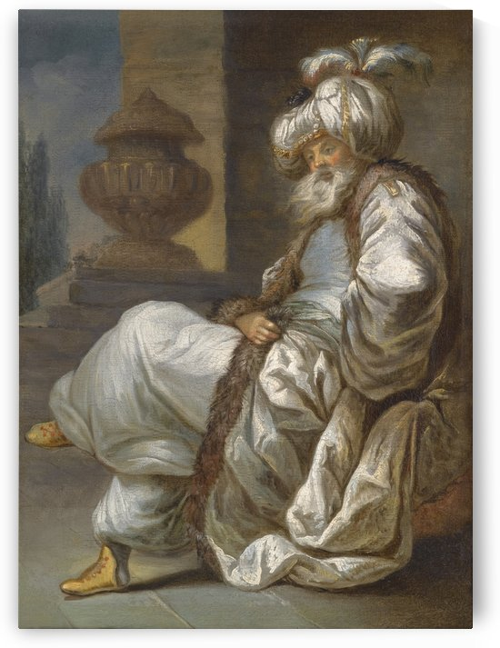 An old Oriental man by Joseph-Marie Vien