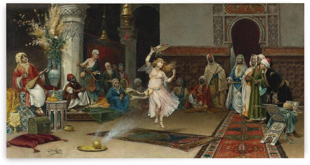 An Oriental Party by Juan Gimenez Martin