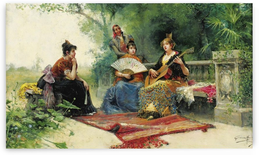 Women listening to music by Juan Gimenez Martin