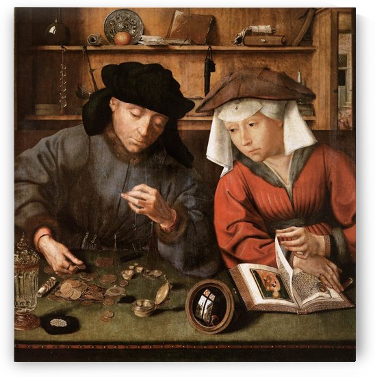 The Moneylender and his Wife by Jan Massys