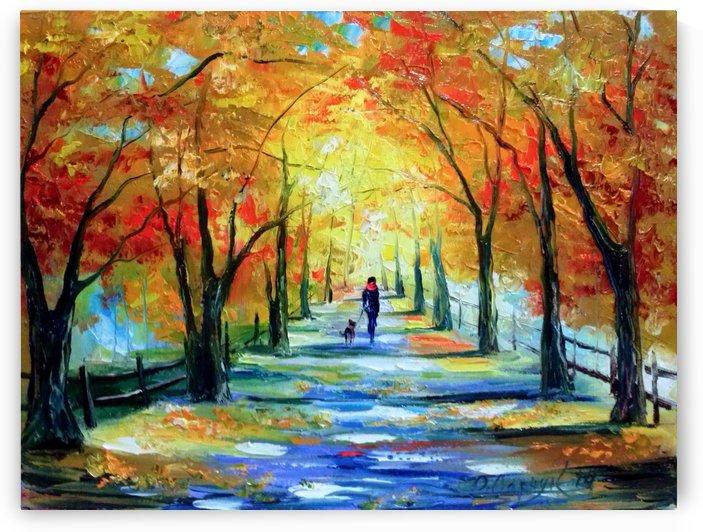 Прогулка в осеннем парке by Olha Darchuk