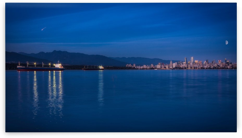 Shooting Star over Vancouver by Andrea Spallanzani