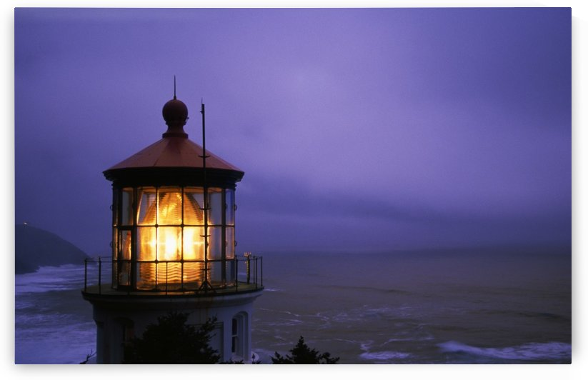 Lighthouse At Heceta Head, Oregon, Usa by PacificStock