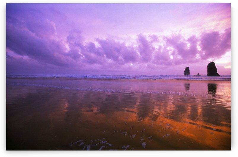 Ocean Sunset, Needle Rocks, Cannon Beach by PacificStock