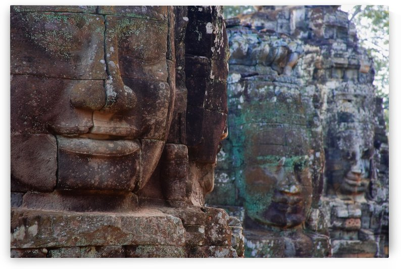 Stone Heads At Bayon Temple by PacificStock