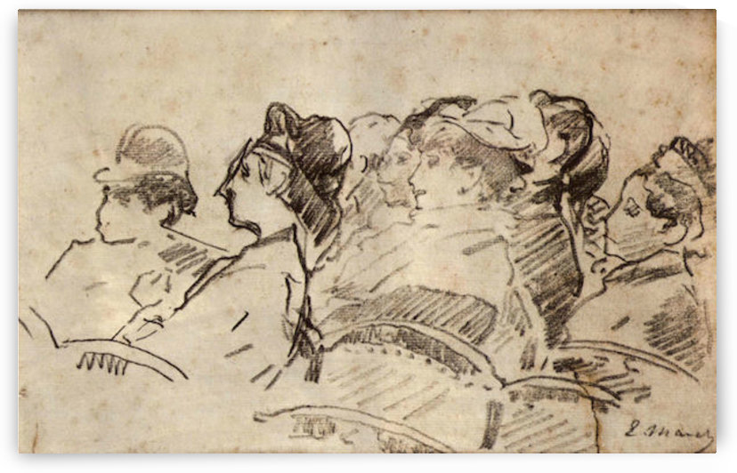 At the Theater by Manet by Manet