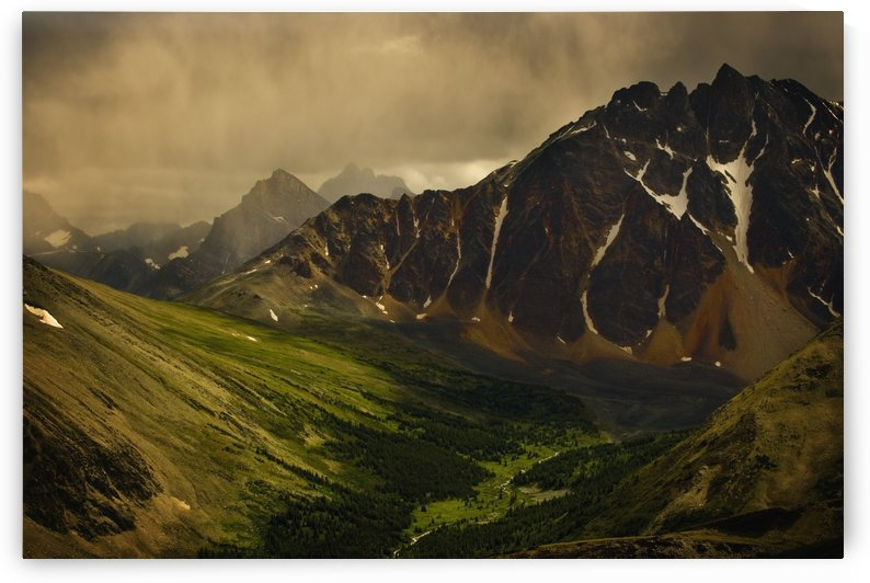 Storm Clouds In Valley by PacificStock