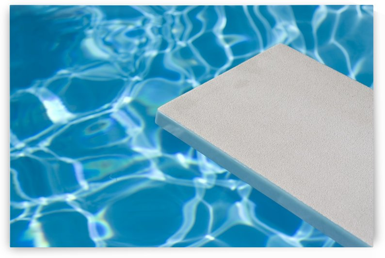 Empty Diving Board And Water by PacificStock