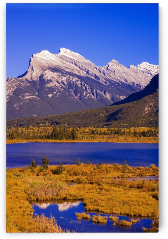 Vermilion Lakes And Mount Rundle In Banff National Park, Alberta, Canada by PacificStock