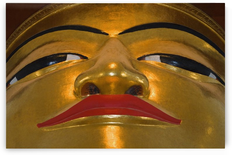 Face Of Golden Buddha, In Bagan Temple Myanmar (Burma) by PacificStock