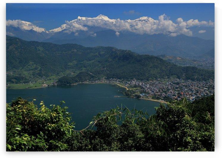 Annapurna Range from Pokhara by Roshan Raj
