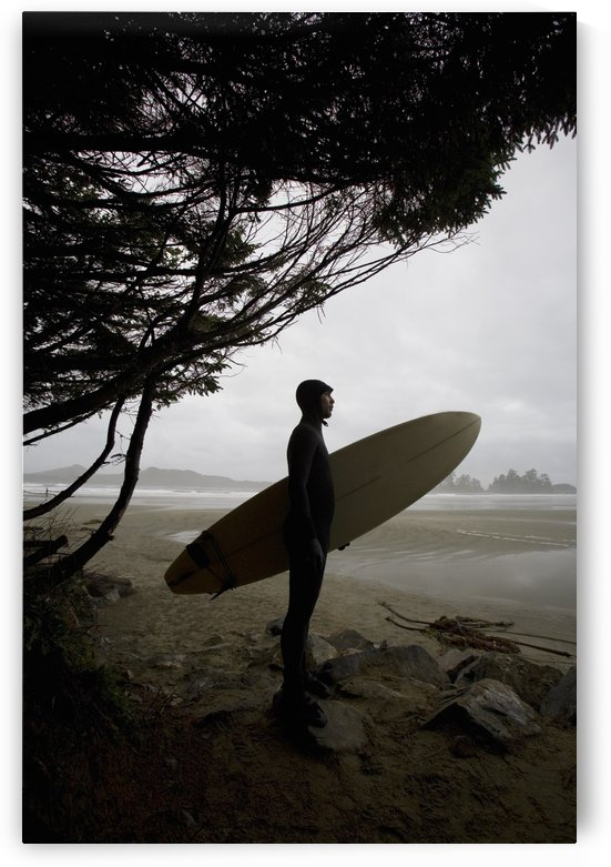 Surfer Looking Out To The Water by PacificStock